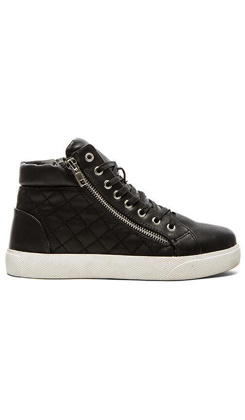 Steve Madden Decaf Hi-Top Sneaker in Black