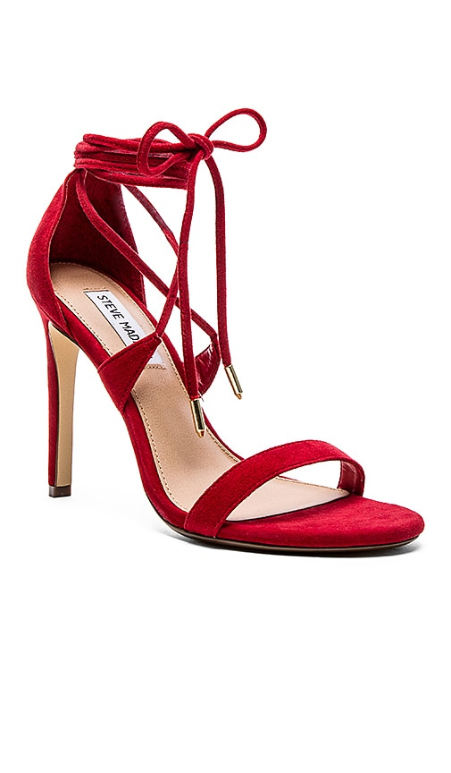 The perfect red strappy heel