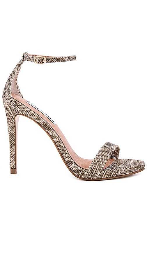 Steve Madden Stecy Heel in Gold Fabric