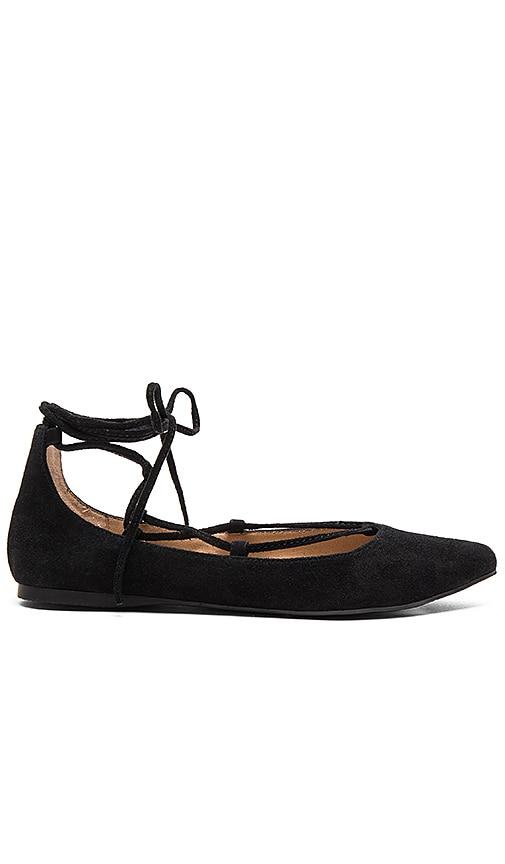 Steve Madden Eleanorr Ballet Flat in Black Suede