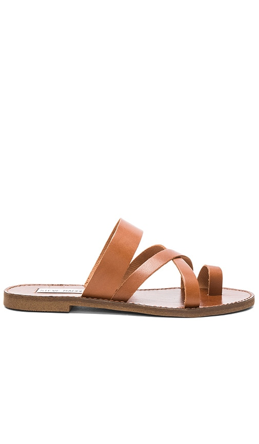Steve Madden Ambler Sandal in Tan Leather