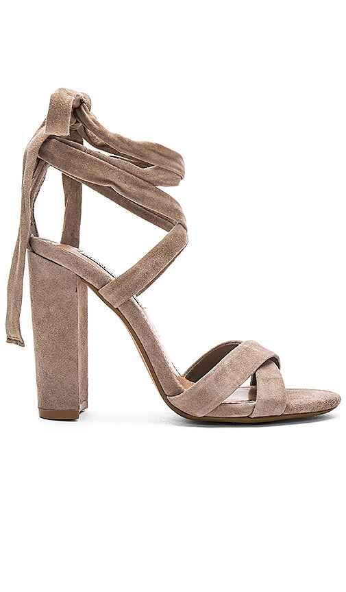 Steve Madden Christey Heel in Taupe Suede