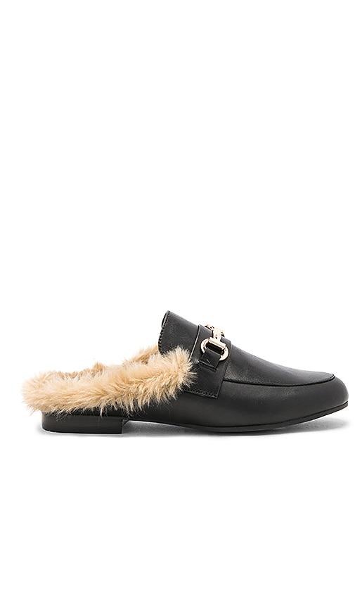 8ed84b22231 Steve Madden Jill Faux Fur Slide in Black Leather | REVOLVE