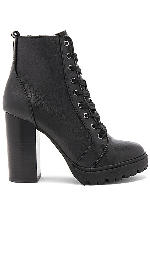 0f9c781f8 Steve Madden Laurie Bootie in Black Leather | REVOLVE
