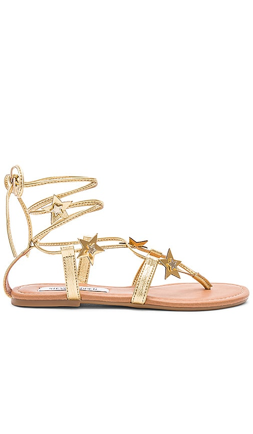 Steve Madden Jupiter Sandals in Metallic Gold