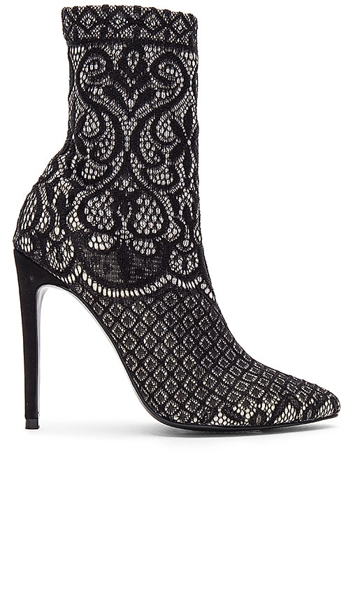 Steve Madden Lovely Lace Bootie in Black