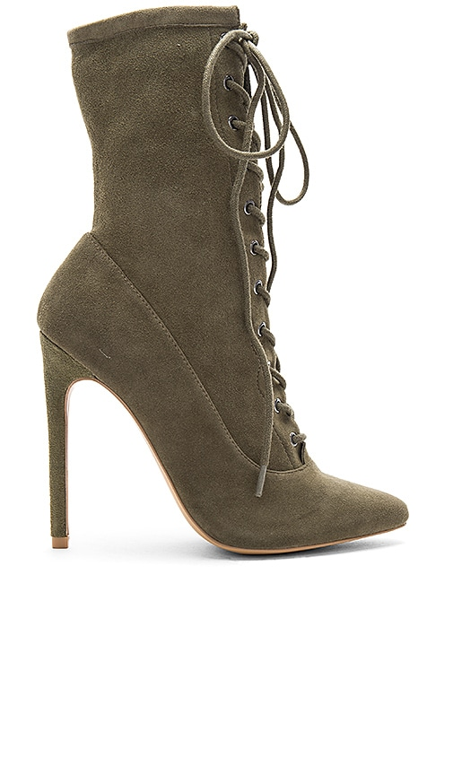 Steve Madden Satisfied Bootie in Olive