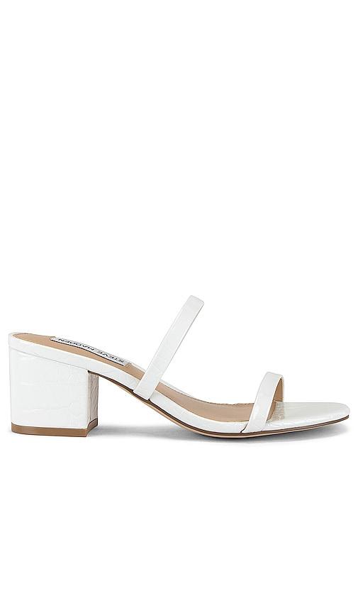 madden white sandals