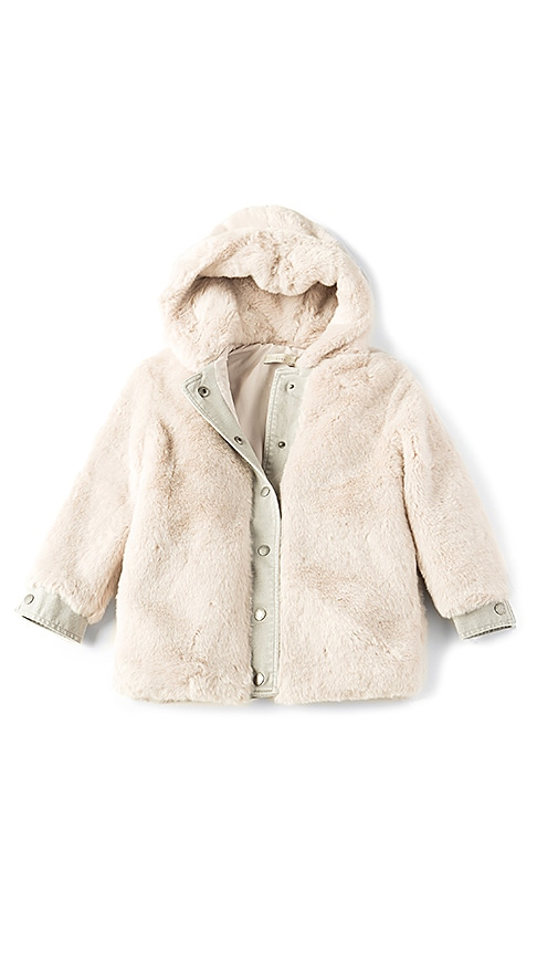 Stella McCartney Kids Treasure Faux Fur Jacket in Gray