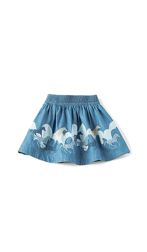 Kids Helga Horse Embroidered Skirt