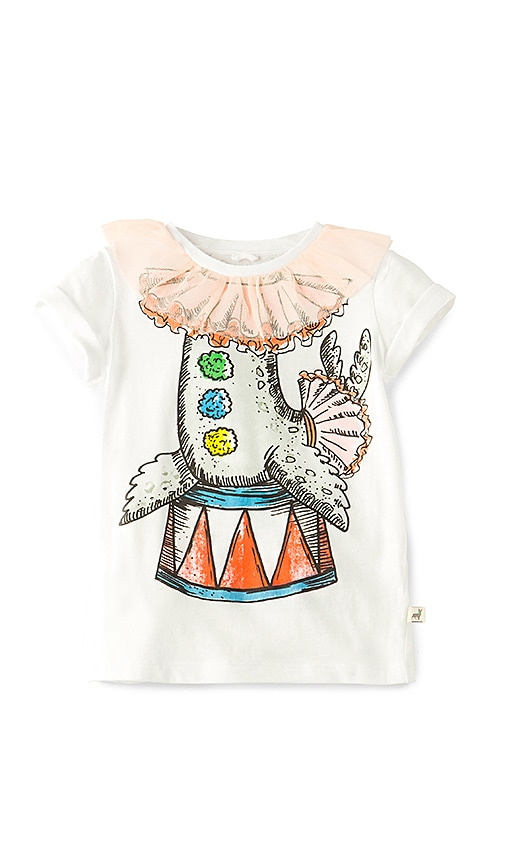 Stella McCartney Kids Arlow Circus Sea Lion Tee in White