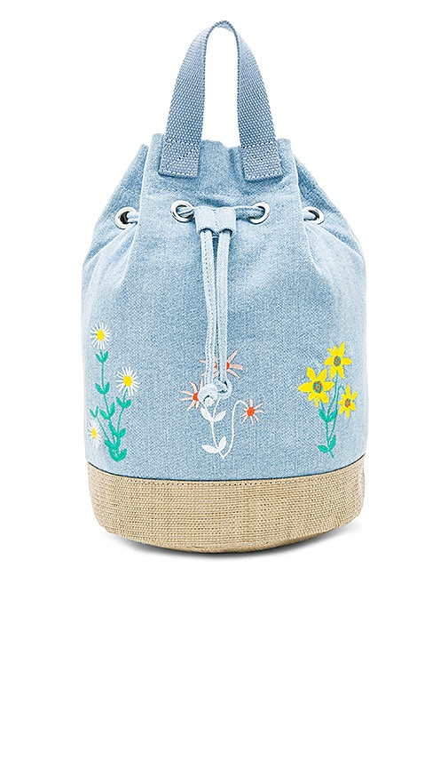 Stella McCartneyKids Gardenia Bucket Backpack in Blue