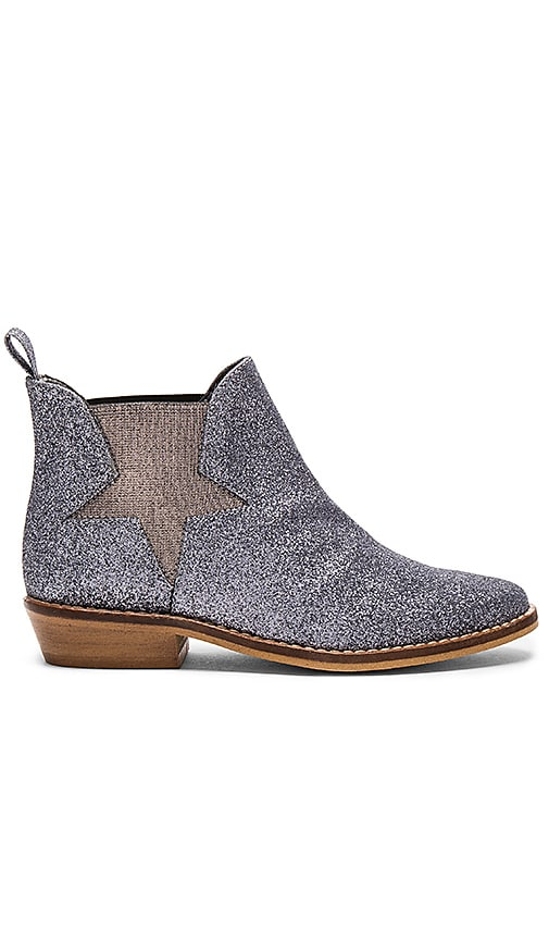 Stella McCartney Lily Glittered Boots in Metallic Silver