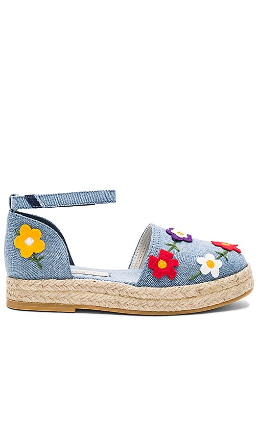 Stella McCartneyKids Flora Denim Espadrilles in Blue