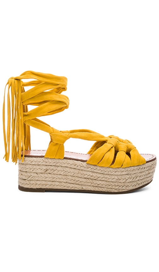 Sigerson Morrison Cosie Sandal in Yellow