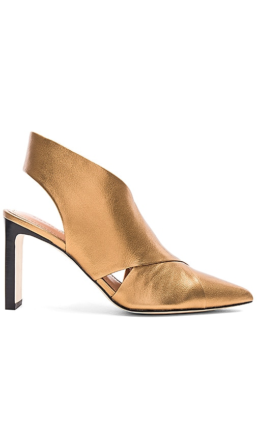 Sigerson Morrison Halima Bootie in Metallic Gold