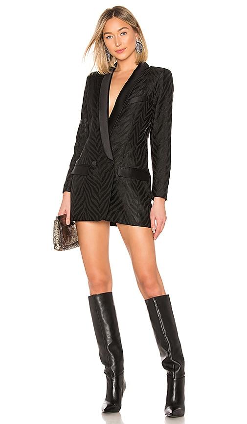 036a3494d0626 Smythe Tuxedo Blazer Dress in Black Zebra Jacquard | REVOLVE