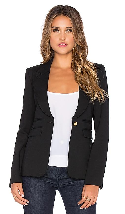 Smythe Peaked Lapel Tuxedo Blazer in Black