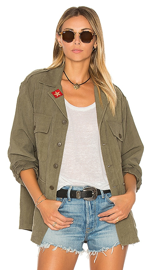 Smythe Army Shirt Jacket in Army