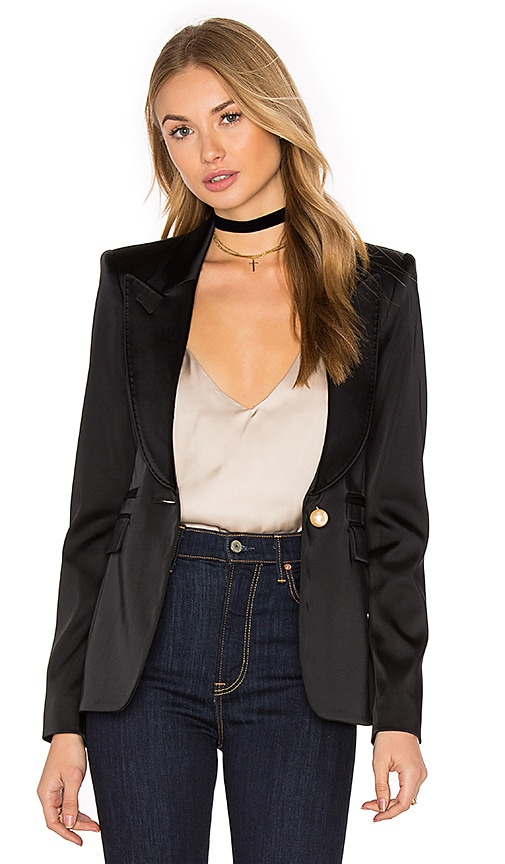 Smythe Peaked Lapel Blazer in Black