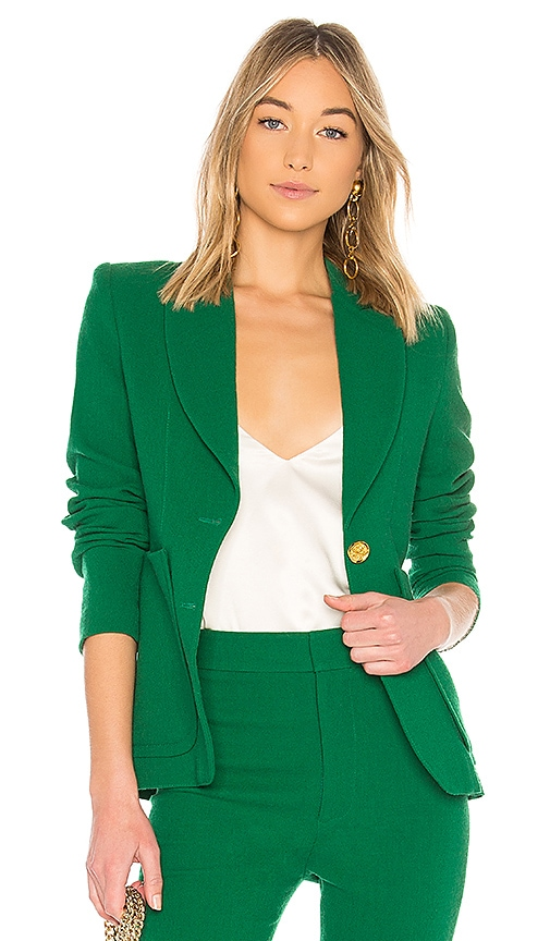 Smythe Portrait Neck Blazer in Green
