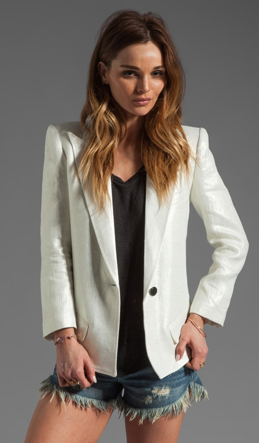 Sharp Shoulder Blazer