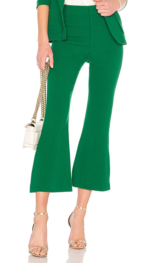 Smythe Cropped Kick Pant in Green