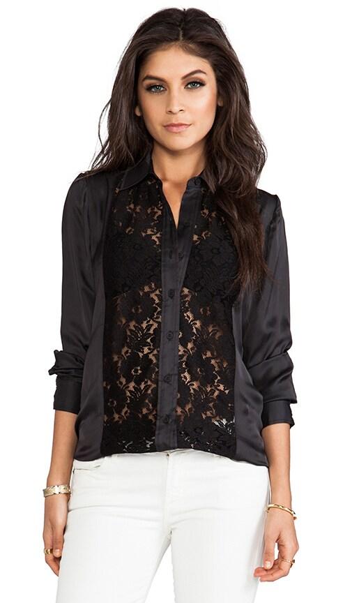 Lace Panel Shirt