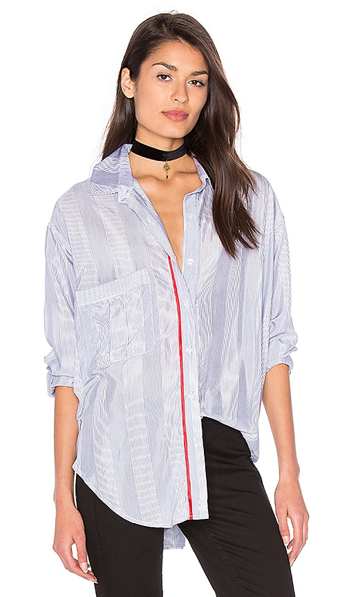 Smythe Twoforone Boyfriend Shirt in Blue