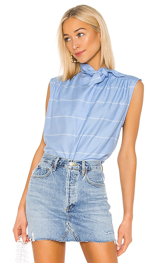 Sleeveless Bandana Neck Shirt
