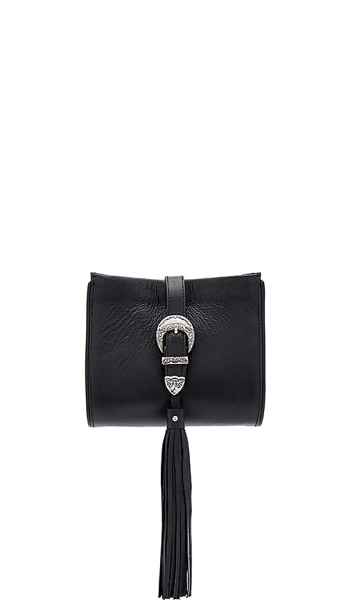 Sancia x Vanessa Mooney Buckle Clutch in Black