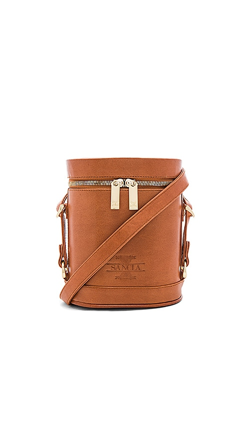 Sancia Luna Zipper Bag in Cognac