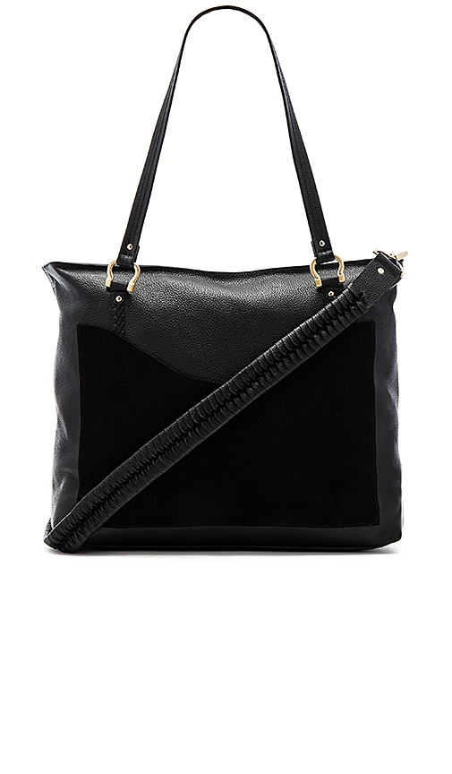 Sancia Weekend Escape Whip Stitch Bag in Black