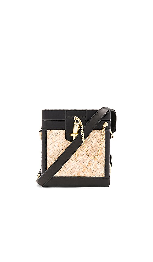 Sancia L'echelle Rattan Crossbody in Black