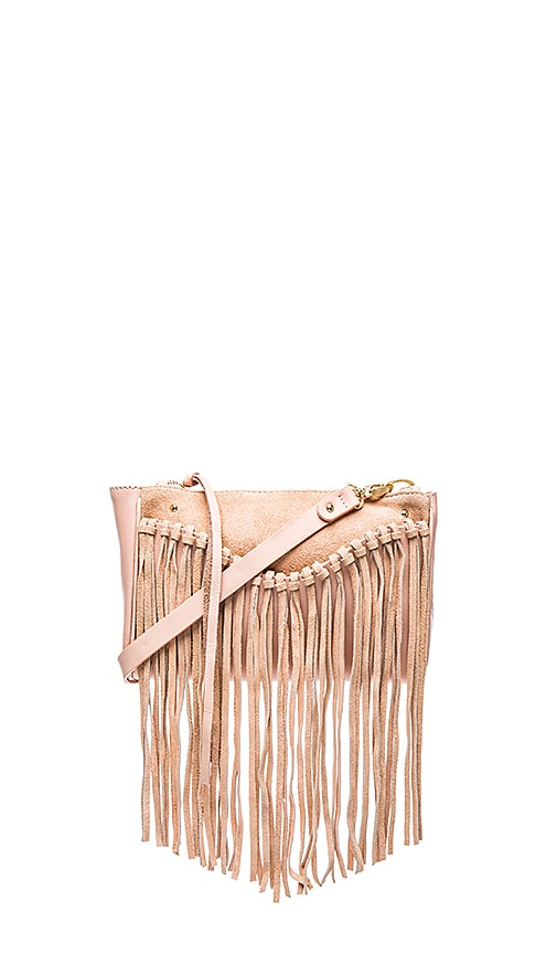 Sancia Talitha Suede Clutch in Rose