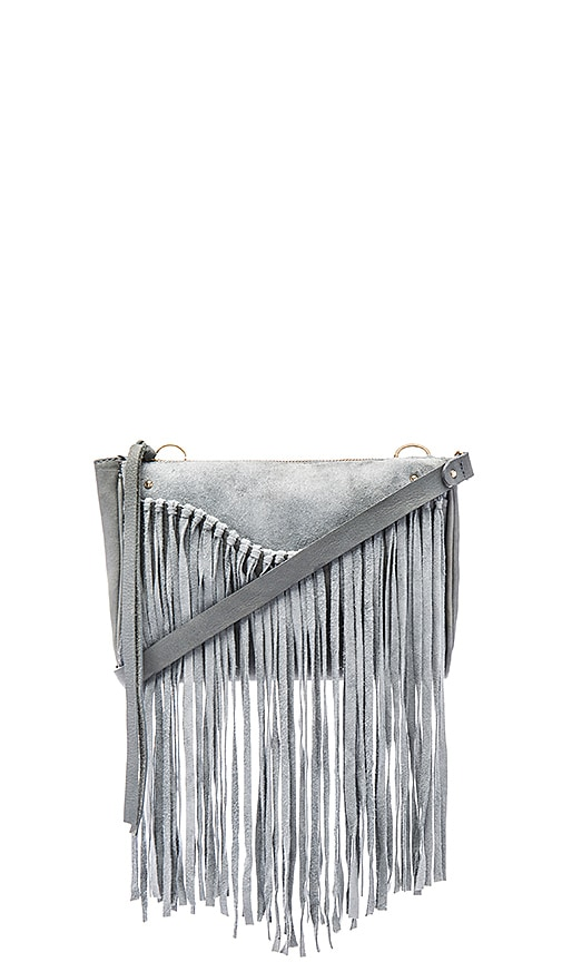 Sancia Talitha Suede Clutch in Smoke