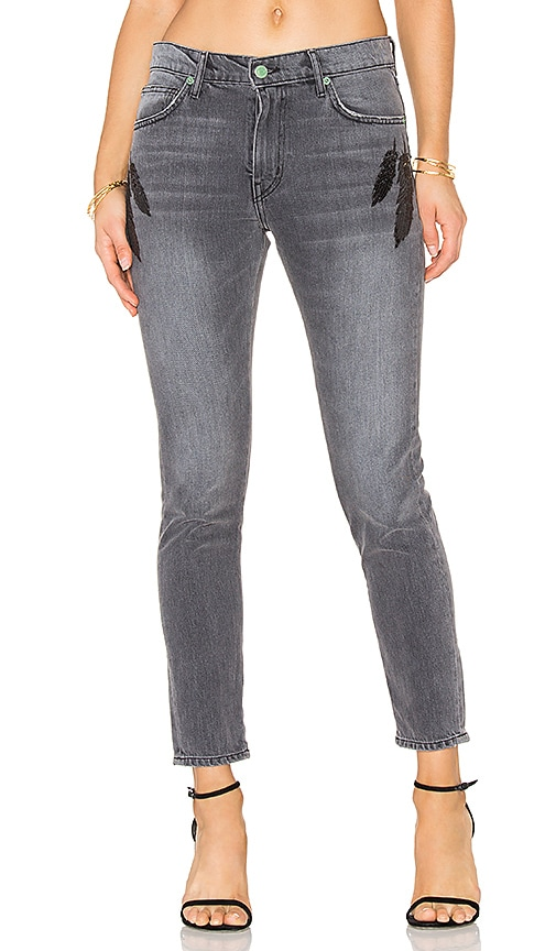 Sandrine Rose Sequin Feather Jean in Dorothy