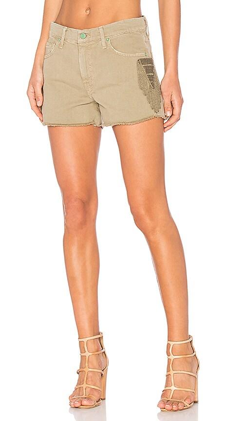 Sandrine Rose Cut Off Shorts in Sage
