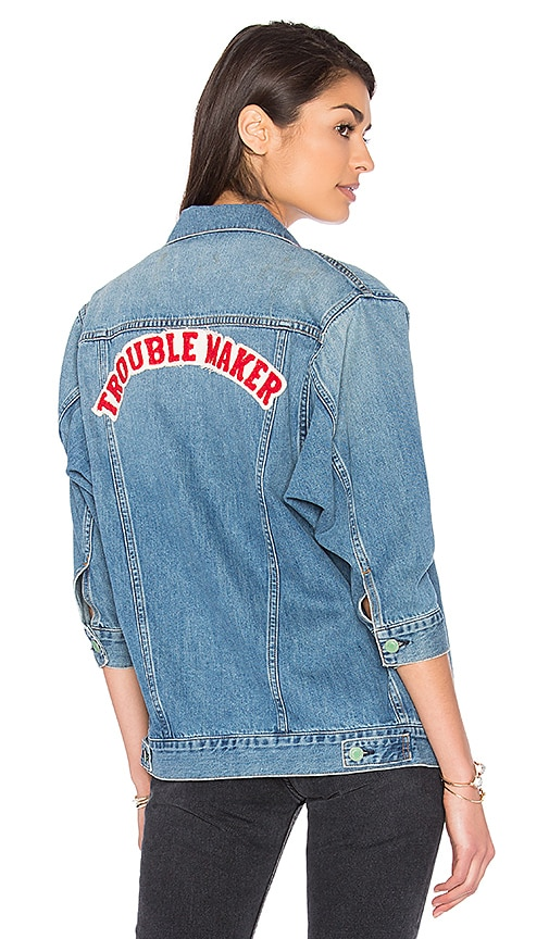 Sandrine Rose Girl Gang Denim Jacket in Georgia