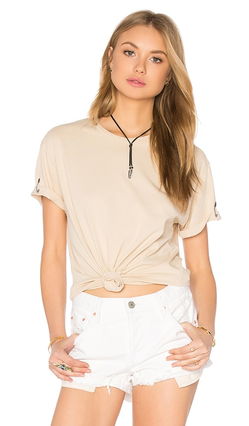 Sandrine Rose Safety Pin Tee in Oasis