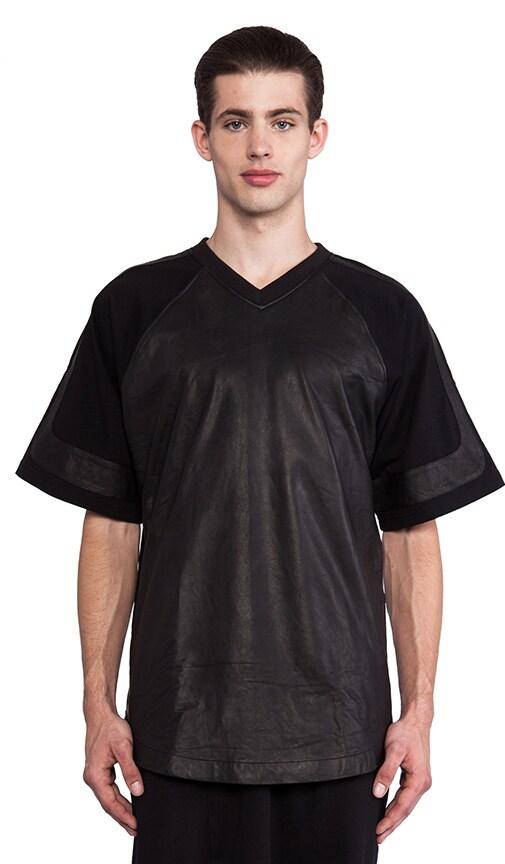 Oversize Leather Varsity Shirt