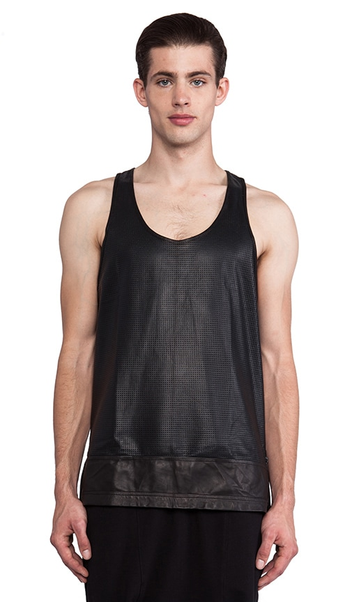 Leather Basketball Tank