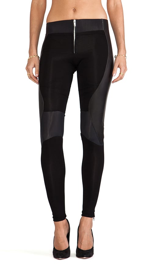 Leather Running Leggings