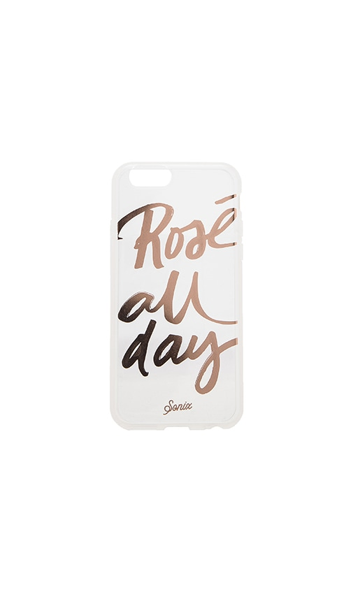 Sonix Clear Rose All Day iPhone 6 Case in Metallic Silver