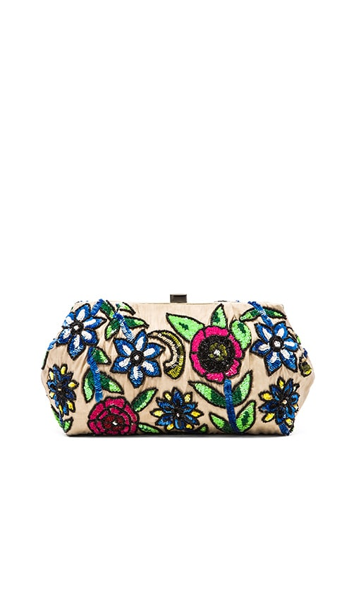 Sequin Floral Clutch