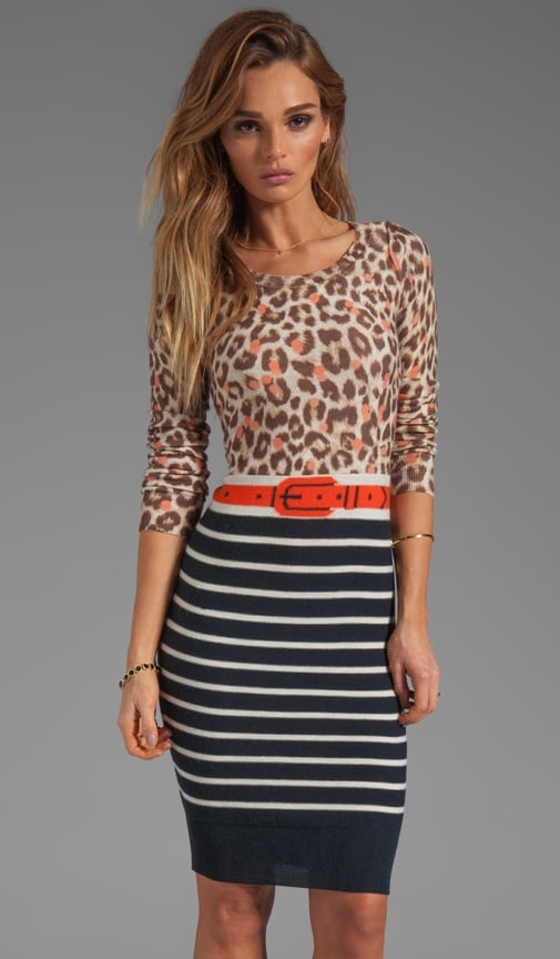 Thin Wool Leopard Dress