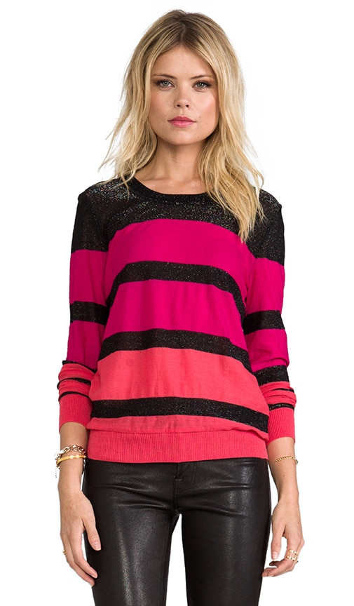 Circular Knit Striped Sweater