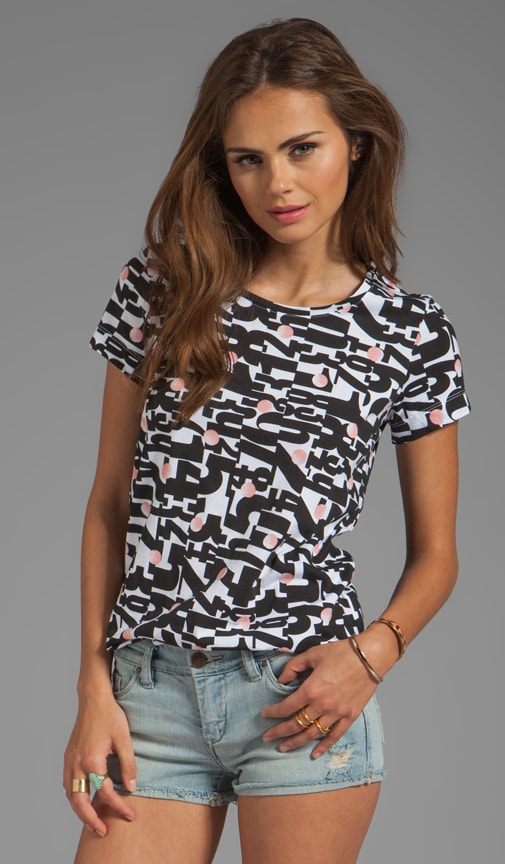 Arty Printed Jersey Tee