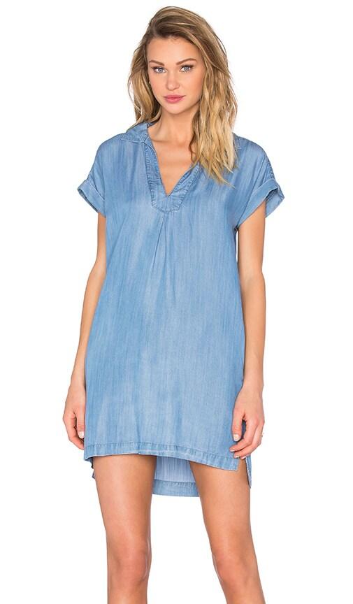 Soft Joie Rasia Collared V Neck Dress in Vintage Chambray