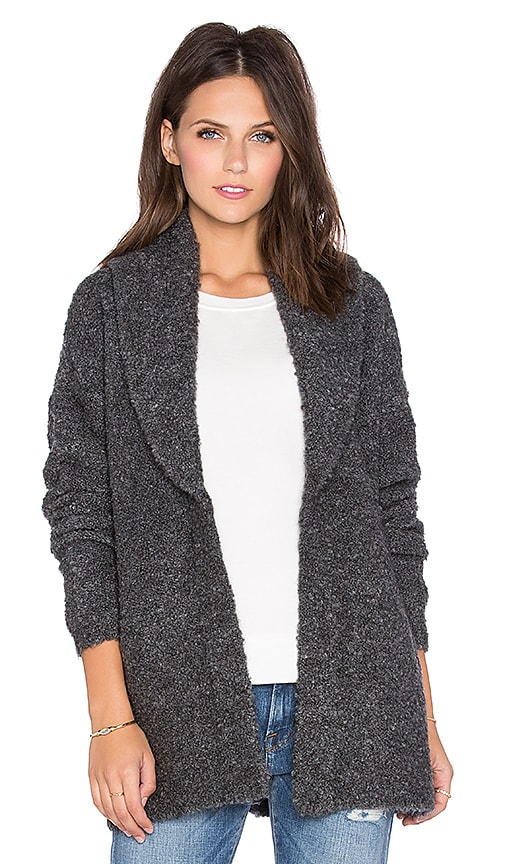 Soft Joie Grayden Cardigan in Dark Grey